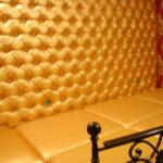 Обшивка стены золотом