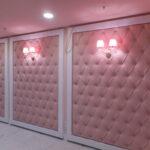 Мягкие розовые стеновые панели