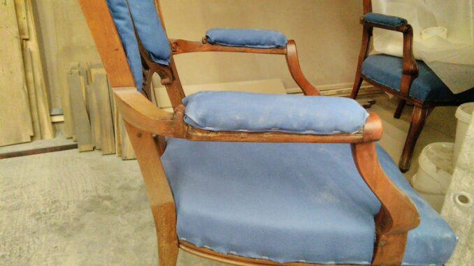 Реставрация мебели кресла