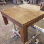Стол деревянный на реставрации